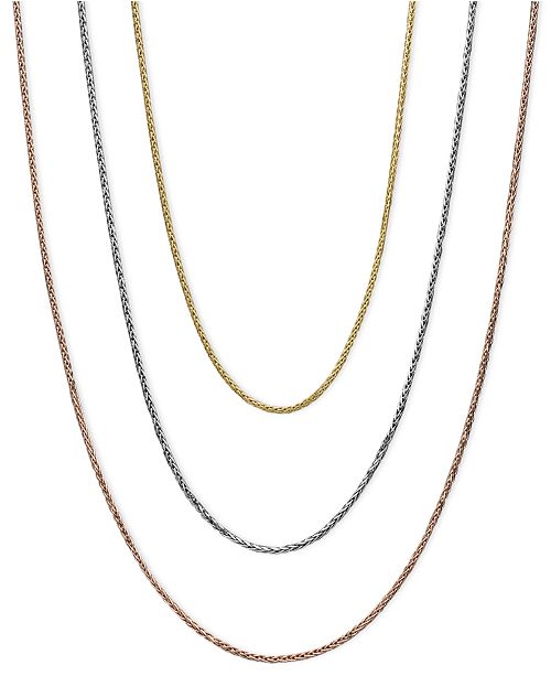 65aca64bb Macy's 14k Gold, 14k White Gold and 14k Rose Gold Necklaces, 16-20 ...