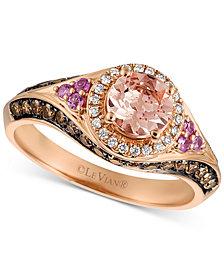 Le Vian Chocolatier® Multi-Gemstone (5/8 ct. t.w.) & Diamond (5/8 ct. t.w.) Ring in 14k Rose Gold