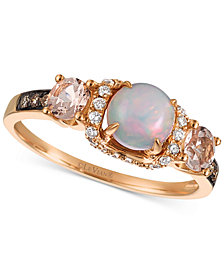 Le Vian Chocolatier® Multi-Gemstone (3/4 ct. t.w.) & Diamond (1/6 ct. t.w.) in 14k Rose Gold
