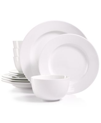 Whiteware 12-Pc. Dinnerware Set, Service for 4, Created for Macy's