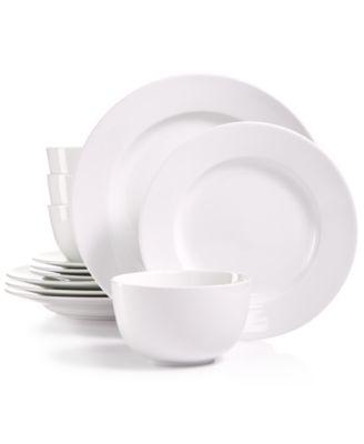 Whiteware 12-Pc. Dinnerware Set Service for 4 Created for Macy\u0027s  sc 1 st  Macy\u0027s & Martha Stewart Collection Whiteware Dinnerware Collection ...
