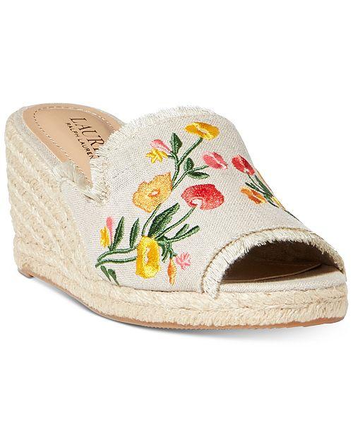 5450ea229bcf6 Lauren Ralph Lauren Carlynda Embroidery Espadrille Wedge Sandals ...