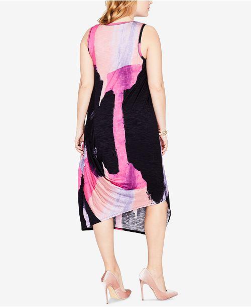 1e03df4413d RACHEL Rachel Roy Trendy Plus Size Asymmetrical Dress   Reviews ...