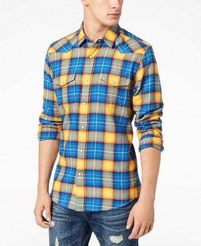 American Rag Men's Western Plaid Shirt, Created for Macy's