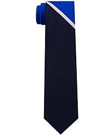 Tommy Hilfiger Men's Texture Panel Stripe Slim Silk Tie