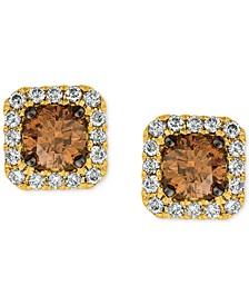Chocolatier® Diamond (3/4 ct. t.w.) Halo Stud Earrings in 14k White Gold, Rose Gold or Yellow Gold.