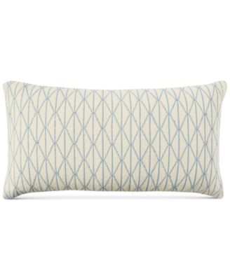 """CLOSEOUT! Cotton Diamond 16"""" x 30"""" Decorative Pillow, Created for Macy's"""