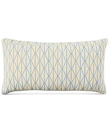 "Lucky Brand Cotton Diamond 16"" x 30"" Decorative Pillow, Created for Macy's"