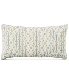 "CLOSEOUT! Lucky Brand 16"" x 30"" Cotton Diamond Decorative Pillow"