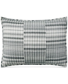 Lucky Brand Broken Stripe Standard Sham, Created for Macy's