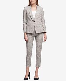 DKNY Tweed Blazer & Skinny Pants