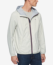 Tommy Hilfiger Men's Big & Tall Hooded Rain Slicker