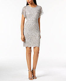 Adrianna Papell Beaded Sequined Dress