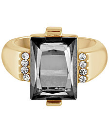 RACHEL Rachel Roy Gold-Tone Color Stone Ring