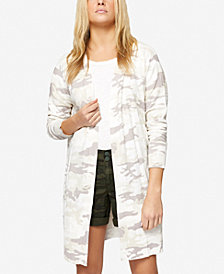 Sanctuary Lenox Long Camo-Print Cardigan
