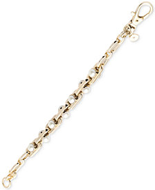 DKNY Gold-Tone Link & Imitation Pearl Bracelet, Created for Macy's