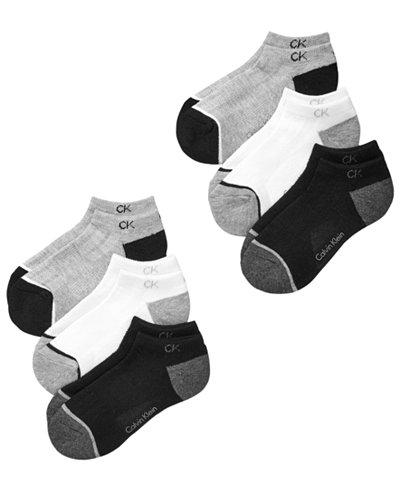 Calvin Klein 6-Pk. No-Show Socks, Little & Big Boys