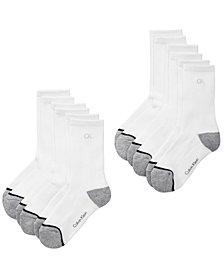 Calvin Klein 6-Pk. Crew Socks, Little & Big Boys