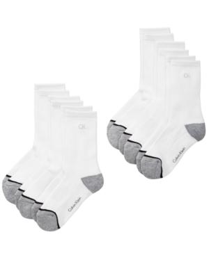 Calvin Klein 6Pk Crew Socks Little  Big Boys