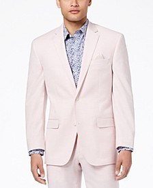Men's Classic-Fit Stretch Pink Solid Suit Jacket