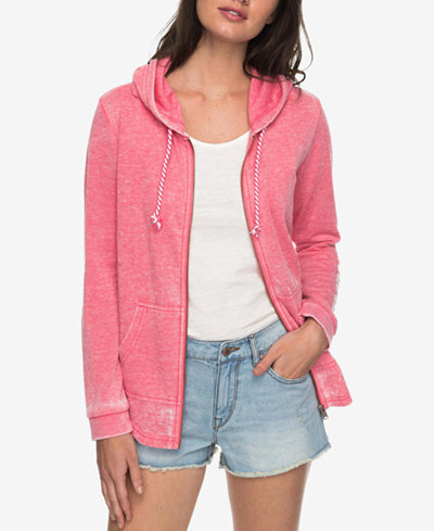 Roxy Juniors' Sunkissed Moment Graphic Zip-Front Hoodie