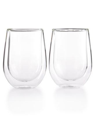 Zwilling Sorrento Double Wall Stemless Red Wine Glasses, Set of 2