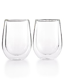 Zwilling J.A. Henckels Sorrento Double Wall Stemless Red Wine Glasses, Set of 2