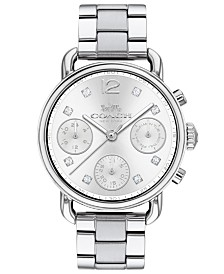 COACH Women's Chronograph Delancey Sport Stainless Steel Bracelet Watch 36mm