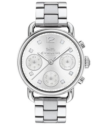 COACH Women's Chronograph Delancey Sport Stainless Steel Bracelet Watch 36mm