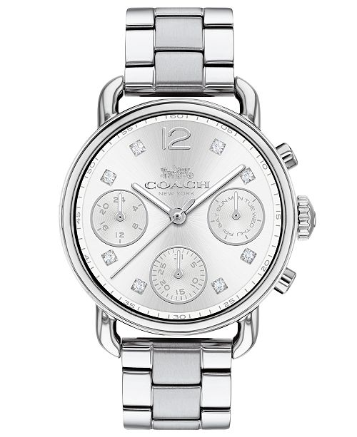 936f28a53814 ... COACH Women s Chronograph Delancey Sport Stainless Steel Bracelet Watch  ...