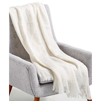 Lacourte Mohair White 50-in x 60-in Throw Deals