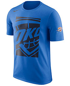 Nike Men's Oklahoma City Thunder Cropped Logo T-Shirt