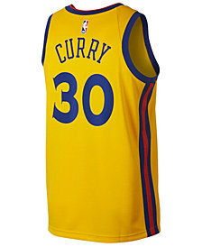 Nike Stephen Curry Golden State Warriors City Edition Swingman Jersey, Big Boys (8-20)