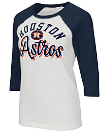 G-III Sports Women's Houston Astros Tailgate Foil Raglan T-Shirt