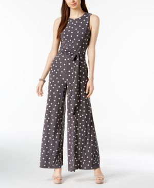 SLEEVELESS POLKA-DOT JUMPSUIT