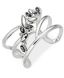 I.N.C. Multi-Stone Flower Cuff Bracelet, Created for Macy's