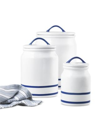 CLOSEOUT! Blue Rim Set of 3 Canisters, Created for Macy's