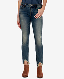 Lucky Brand Lolita Ripped-Cuff Skinny Jeans