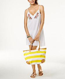 Miken Juniors' Embroidered Cover-Up Dress, Created for Macy's