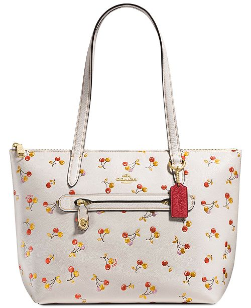 COACH Cherries Print Taylor Small Tote