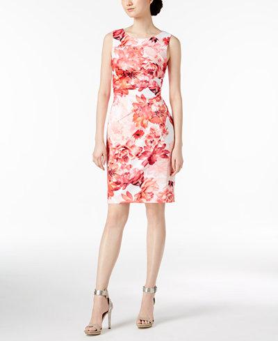 Calvin Klein Starburst Sheath Dress, Regular & Petite