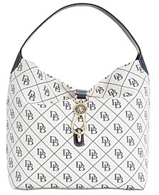 Dooney & Bourke Signature Quilt Logo-Lock Medium Sac Handbag, Created for Macy's