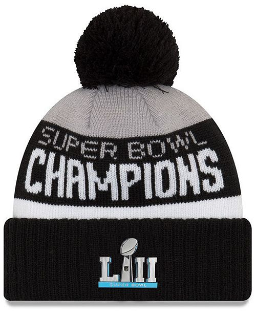 66c41647a26586 New Era Philadelphia Eagles Super Bowl LII Champ Parade Pom Knit Hat ...