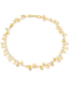 Shaky Disc Ankle Bracelet in 18k Gold-Plated Sterling Silver, Created for Macy's