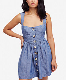Free People Carolina Fit & Flare Mini Dress