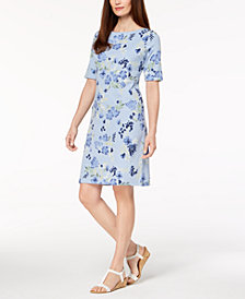 Karen Scott Floral-Print T-Shirt Dress, Created for Macy's