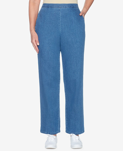 Alfred Dunner Sun City Proportion Denim Pull-On Pants