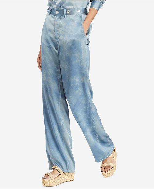 e14eea1c Polo Ralph Lauren Silk Wide-Leg Pants & Reviews - Pants & Leggings ...
