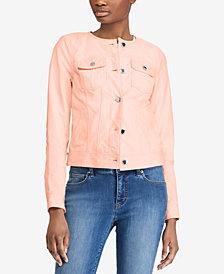 Lauren Ralph Lauren Leather Trucker Jacket