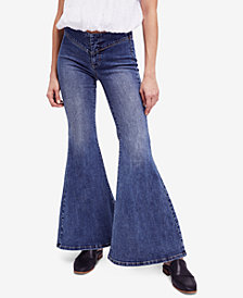 Free People Low-Rise Flared Jeans